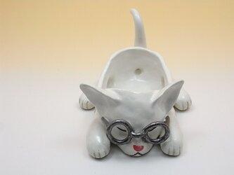メガネネコーA・(ホワイト)の画像