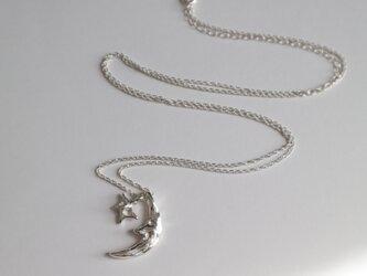 【Silver925】月と星のネックレスの画像