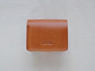 二つ折り財布 茶の画像