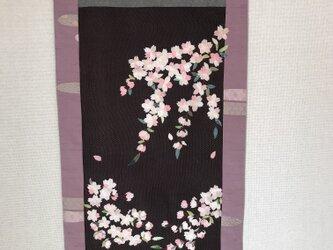 ヴィンテージ着物から桜タペストリー 懐かれての画像