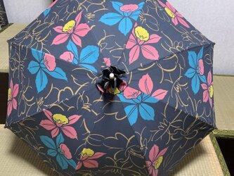 浴衣反物から作った日傘 POPの画像