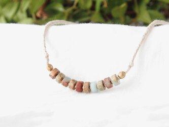Line Short Necklace(インプレッションストーン)の画像