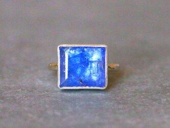 古代スタイル*天然タンザナイト 指輪*8号 10KGの画像