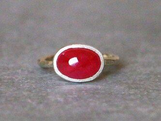 古代スタイル*天然ルビー 指輪*8号 10KGの画像
