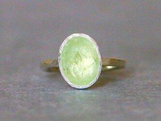 古代スタイル*天然スフェーン 指輪*8号 10KGの画像