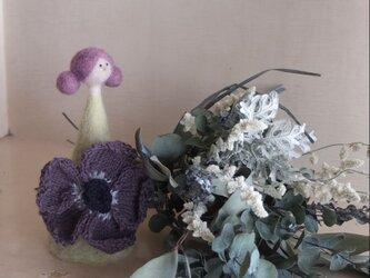 若草色の花こけしとスワッグの画像