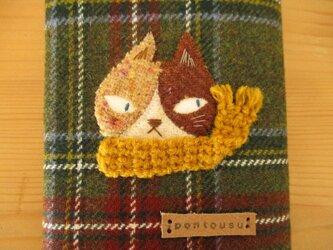 N様ご予約品 ハチワレ猫の文庫本カバーの画像