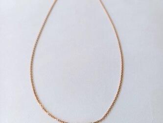 K18 Gold Filled ローズペンダント with ダイヤモンドの画像