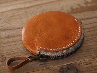 まん丸コインケース(ブラウン)の画像
