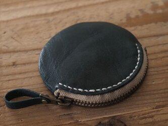 まん丸コインケース(ネイビー)の画像