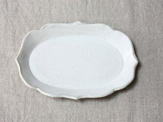 waveだえん皿(白色)の画像