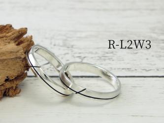 R-L2W3 --シンプルな溝のリング幅3mm<鏡面/ヘアライン選択可>の画像