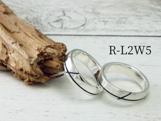 R-L2W5 --シンプルな溝のリング幅5mm<鏡面/ヘアライン選択可>の画像