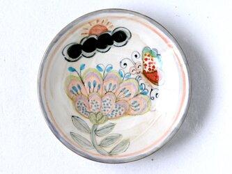 水彩画調/花と蝶絵の六寸皿Ⅰの画像