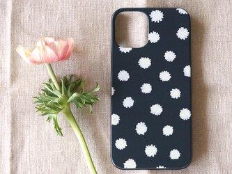 【iPhone / Android】表面のみ印刷*ハード型*スマホケース「mimosa dot(black & white)」の画像
