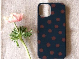 【iPhone / Android】表面のみ印刷*ハード型*スマホケース「mimosa dot(black & brown)」の画像
