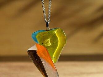 「 色のあるガラス 」●ネックレス#378 ● 【1点限定制作】の画像
