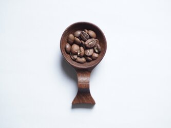 木のコーヒービーンスプーン(チーク)A023-0の画像