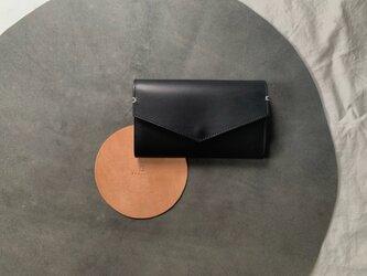 ロングウォレット 手持ちバッグ 長財布 本革の画像
