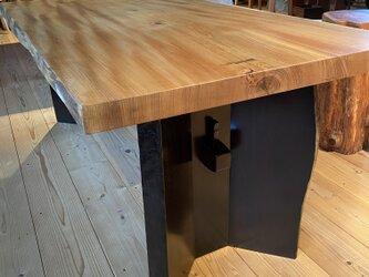 欅 一枚板テーブルの画像