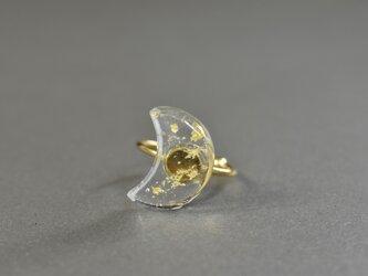 ガラスのお月さまの指輪 メルトの画像