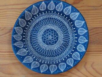 青いお皿(中4)の画像