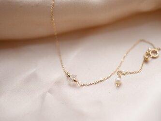 4月お誕生石のブレスレット ハーキマーダイヤモンドの画像