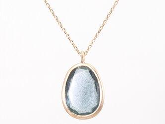 Moss aquamarine necklaceの画像