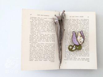 ブローチ【チューリップ】紫の画像
