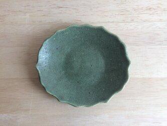 稜花オーバル小皿(グリーン)の画像
