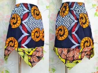 アフリカ布スカートの画像
