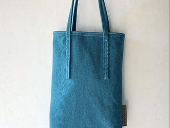 miniバッグ/ターコイズブルー×ベージュの画像