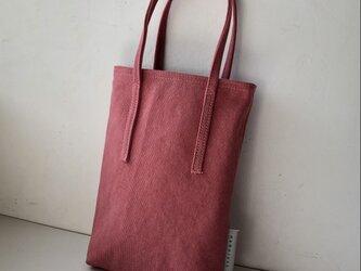 miniバッグ/サーモンピンク×グレーの画像