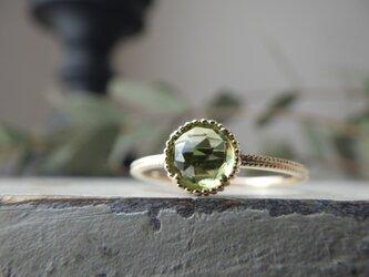 K10YG ペリドットのリングの画像