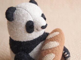 パンと子パンダの画像