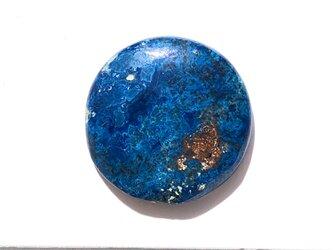 アズライト[73] 22x22mm 22Cts   天然石ルース/カボションの画像