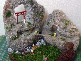 お参りのハコニワ盆景の画像