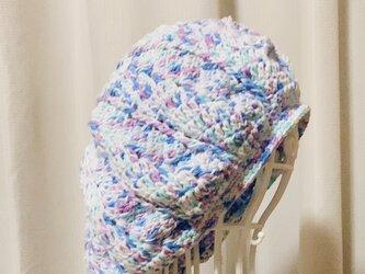 コットンのモザイクベレー帽の画像