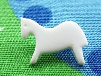 (2個)白馬のボタン フランス製の画像