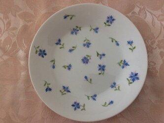 ブルー絵の皿の画像