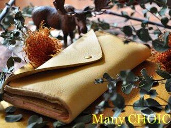 やみつきエルクとEUヌメの長財布2(レモンドロップ)の画像
