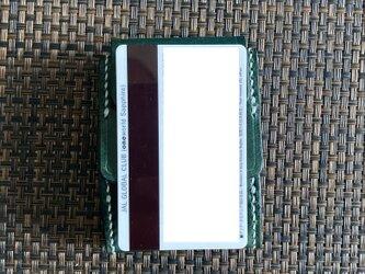 【床面染】巾7cm カードとコインの財布Ⅲ CC-12dgn コインケース ヌメ革 ディープグリーン染め 小銭入れの画像