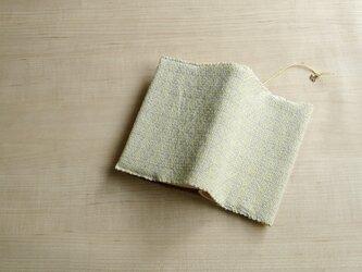 手織りブックカバー(文庫)イエローダイアゴナルの画像