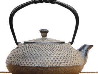南部鉄器 鉄瓶兼用急須 小鉄瓶 アラレ(ひさご色HSG)0.5L 茶漉し付 内面素焼き・酸化被膜仕上 ガス対応の画像