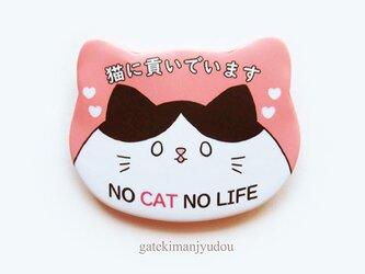 「猫に貢いでいます」缶バッジの画像