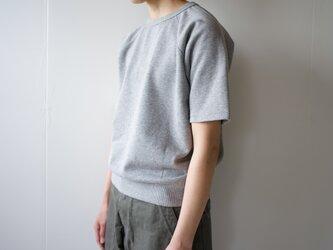吊り裏毛5部袖スゥェットシャツ/grayの画像