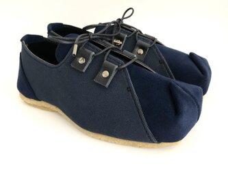 SQUARE sneakers #倉敷帆布 #micro-fiber #受注製作の画像