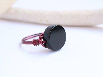 2点限定 オニキス ビビット Wire Ringの画像
