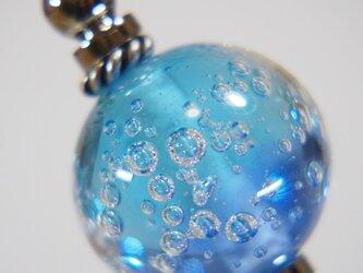 しゅわしゅわとんぼ玉のかんざし 水色✕藍色の画像