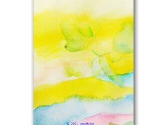 「しあわせ笑顔」春 トイプードル ほっこり癒しのイラストポストカード2枚組 No.1313の画像